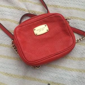 Michael Kors Orange Red Crossbody Bag